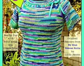 Cutie-Pie Top - Machine Knit Pattern