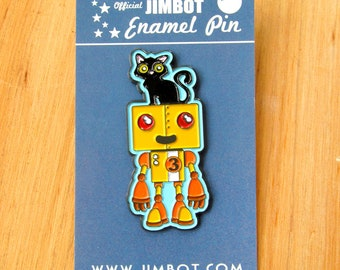 Official JIMBOT Enamel Pin #4 - Black Cat Official JIMBOT Enamel Pin #4 - Black Cat
