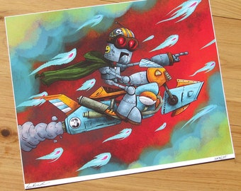 The Rescue - 8x10 inch Giclee JIMBOT Print
