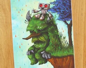 Old Friends - 8x10 inch Giclee JIMBOT Print