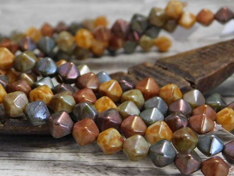 30pcs 3x5mm Picasso Gemstone Cut Czech glass beads pick your colors!