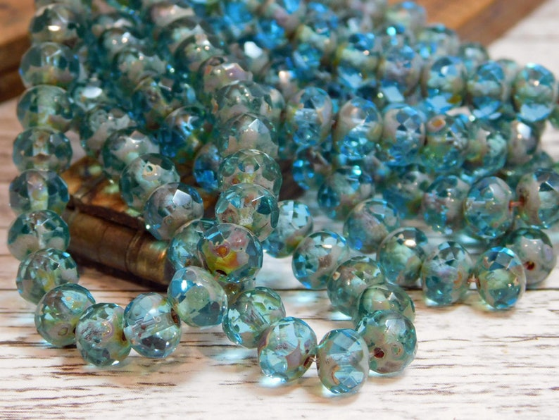 Czech Rondelle Faceted Fire Polished Beads CHOOSE COLOR!