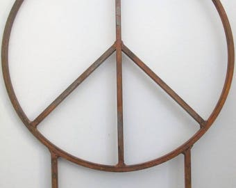 Huge 42 inch diameter Metal Peace Signs with two 32 inch tall removable legs