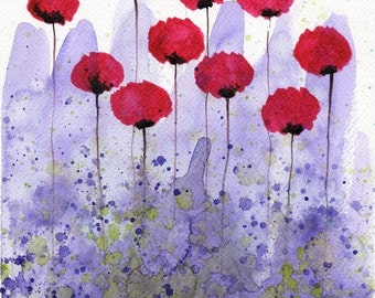 Pink Purple Abstract Painting Modern Farmhouse Purple Pink Watercolor Flower Painting Watercolor Painting Farmhouse Decor Farmhouse Wall Art