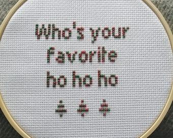 Ho Ho Ho cross stitch