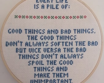 Dr. Who Eleventh Doctor cross stitch