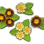 Primroses & Auriculas PDF Pattern - Felt Flower Sewing Tutorial, sew spring felt flower brooches