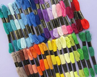 Embroidery Thread Rainbow - 36 Skeins of Stranded Thread (Floss), 36 Different Colours per pack - UK Seller - DIY, sewing, craft, gift idea