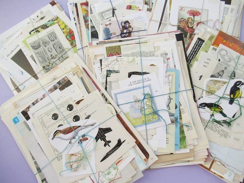 Bumper Vintage Paper Pack: Lucky Dip Mystery Bundle  250g or image 0