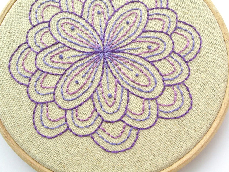 SAMPLE  Fabulous Flower Embroidery purple embroidered wall image 0