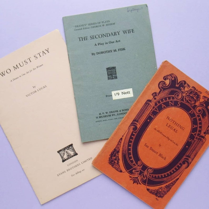 3 Vintage One Act Play Scripts: Two Must Stay The Secondary image 0