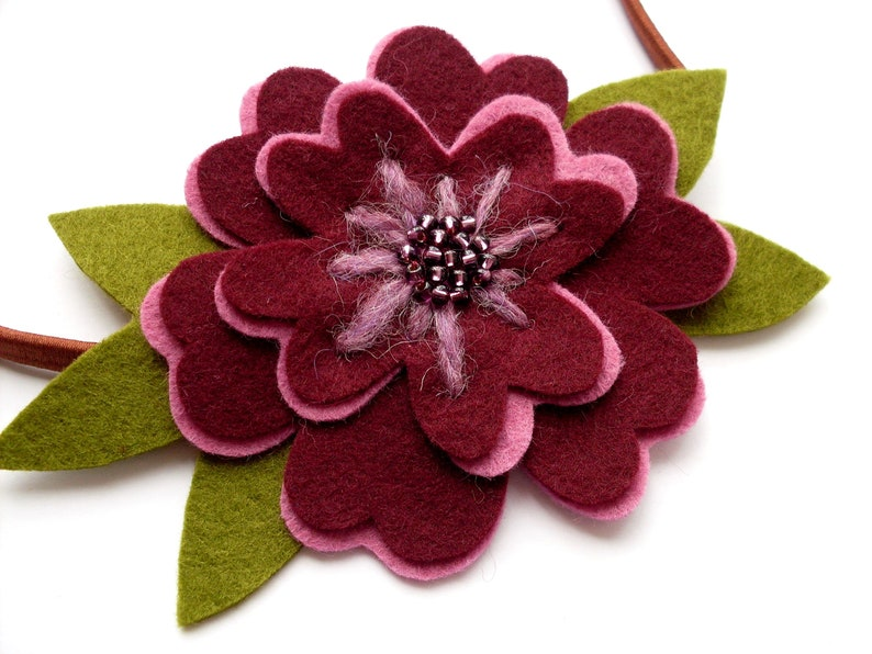 Romantic Flowers PDF Pattern  Felt Flower Sewing Tutorial and image 0