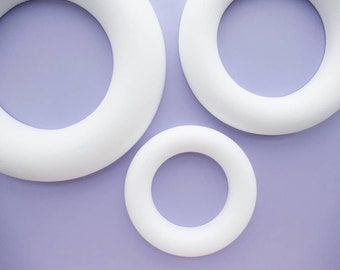 Wreath Bases, polystyrene half ring shapes (flat backed), choice of sizes, 25 cm, 35 cm, or 45 cm, Christmas crafts, craft supplies