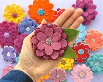 Flexible Flowers PDF Pattern - Easy Felt Flower Sewing Tutorial, sew pretty felt brooches & lots more! DIY, craft, floral, spring, summer