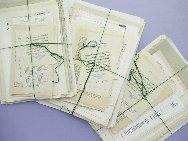 Vintage Paper Pack: Text Bundle  500g of text-filled image 0