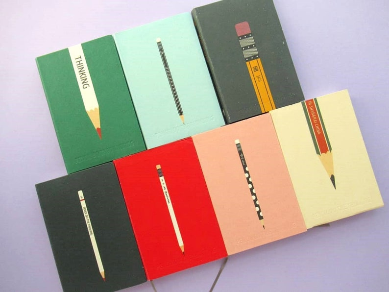 Pencil Do The Thinking: Pencil-themed Notebook Stationery image 0