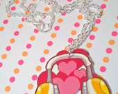Love Headphones Necklace 21 inches