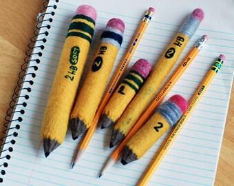 Wee Soft Sculpture Pencil . Wool Felt