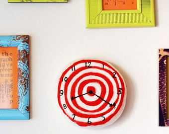 Felt Faux Clock . Bullseye