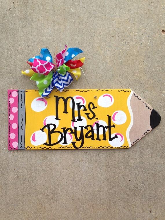 teacher appreciation door hanger school door hanger classroom door hanger Pencil door hanger teacher door hanger
