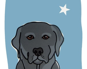 Authentic II - a Black Lab in the Dog Series Art Print