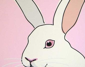 Sweetheart - a Rabbit in the Farm Series Art Print