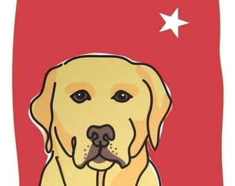 Authentic - a Yellow Lab in the Dog Series Art Print