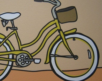 Yellow Bicycle - A Bike in the Transportation Series by Danielle J. Hurd