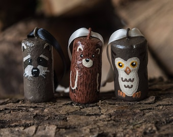 Handpainted Cork Ornaments: Forest Friends