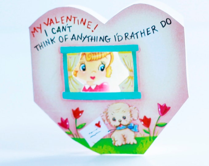 Vintage Popup Valentine | Unique hand made pop up Valentines | Colorful Fun Cards for your Valentine | For Little Kids and Big Kids by Val