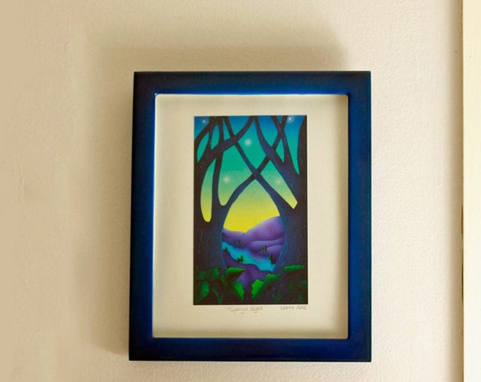 TOPANGA TWILITE Framed Print | Nature Print | Rustic Wall Art | Cabin Print | Valerie Walsh Art Work | 8x10