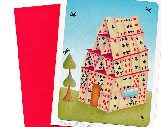 House of Cards Greeting Card   Friendship Greeting Card   Playing Cards Postal Card      Greeting Card   House of Cards Card   Val Cards