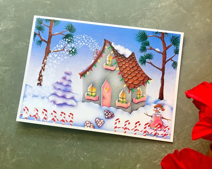6 Warm Winter Wishes Greeting Cards | Christmas Greetings | Holiday Celebration Cards | Val Walsh Greeting Cards