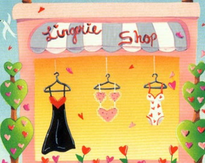 Valentine Gift Card for a Lingerie Shopping Spree   Gift Certificate for Valentine Undies   Intimate Greeting Card To Shop for Lingerie
