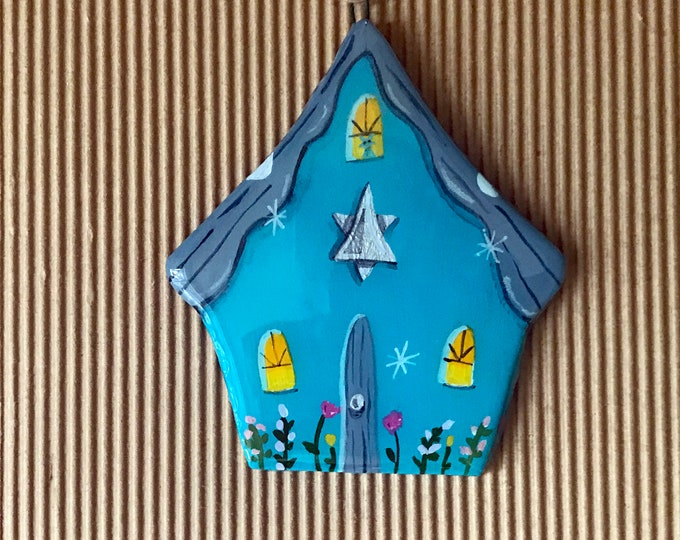 STAR of DAVID ORNAMENT | Star of David Decoration | Personalized Ornament | Hanukkah Decor | Keepsake Gift | Hanukkah Cottage Ornament