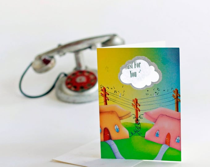 CALL ME Anytime You Need to Talk Greeting CARD | Phone Home Gift Card | Call Me Gift Certificate | Valerie Walsh Art Card