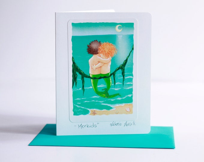 MerKids  Greeting Card with Envelope| Thinking of you Cards | Inspirational Greeting Cards | Just Because Cards | Friendship Cards | 5x7