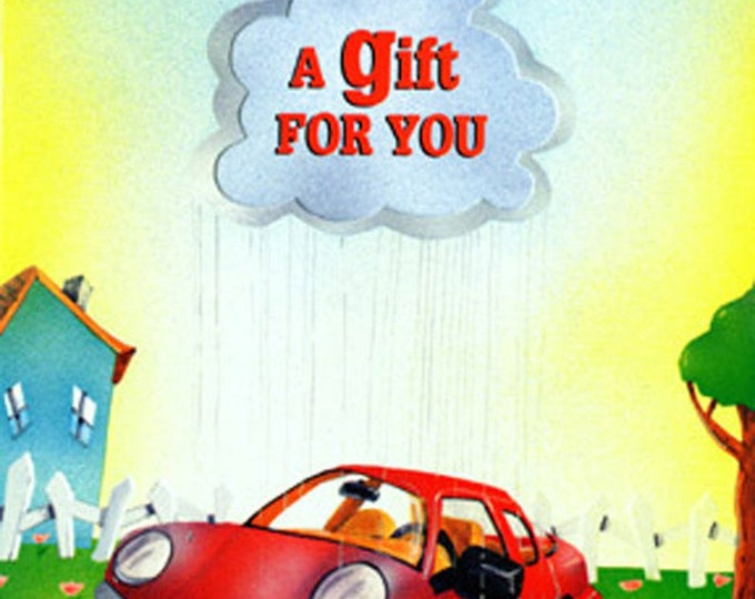 Deluxe CAR WASH Gift Card   Car Wash Gift Certificate   Car wash Card   Valerie Walsh Art Greeting Card