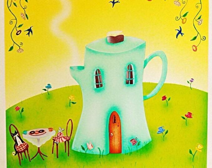 COFFEE HOUSE | Framed Art Print | Nature Print | Kitchen Wall Art | Coffee Break Room Print | Valerie Walsh | 12x12