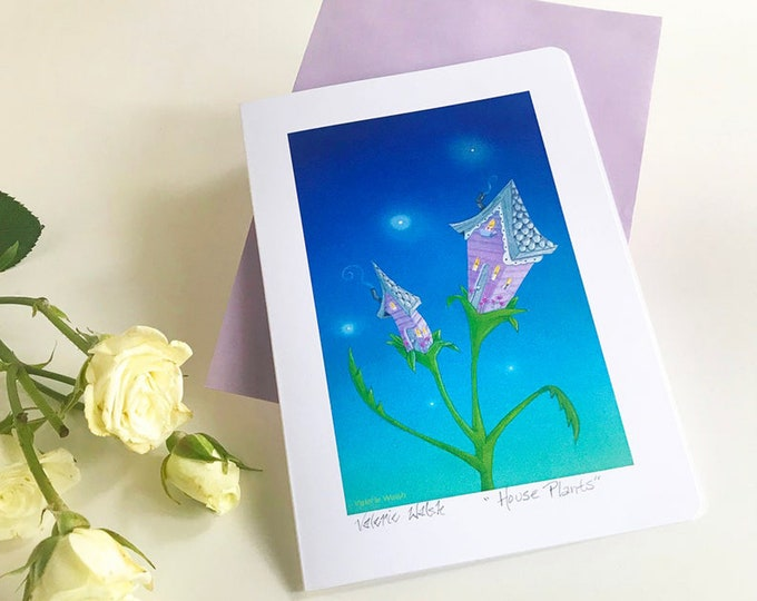 HOUSE PLANTS Greeting CARD | Friendship Card | Floral  Notecard | House Warming Friendship Card | Gardening\Gardener Themed Greeting Card