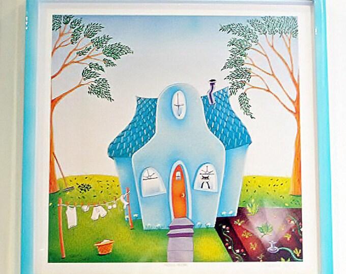 HOUSE WORK Framed Art Print | Framed Laundry Room Print | Laundry Room Wall Art | Spring Cleaning Print | Valerie Walsh | 12x12