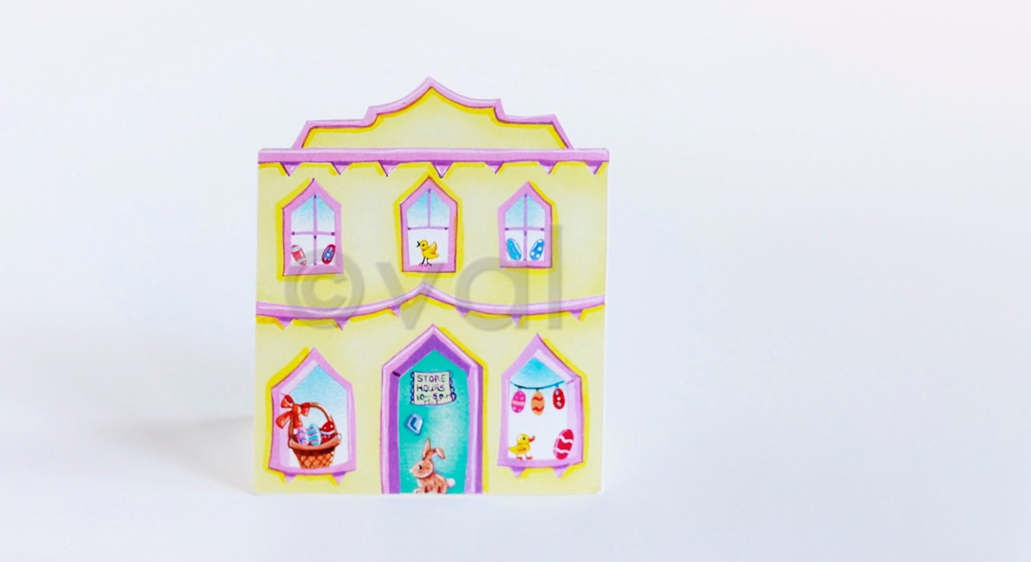Easter Greeting Card Little Easter House Greeting Card