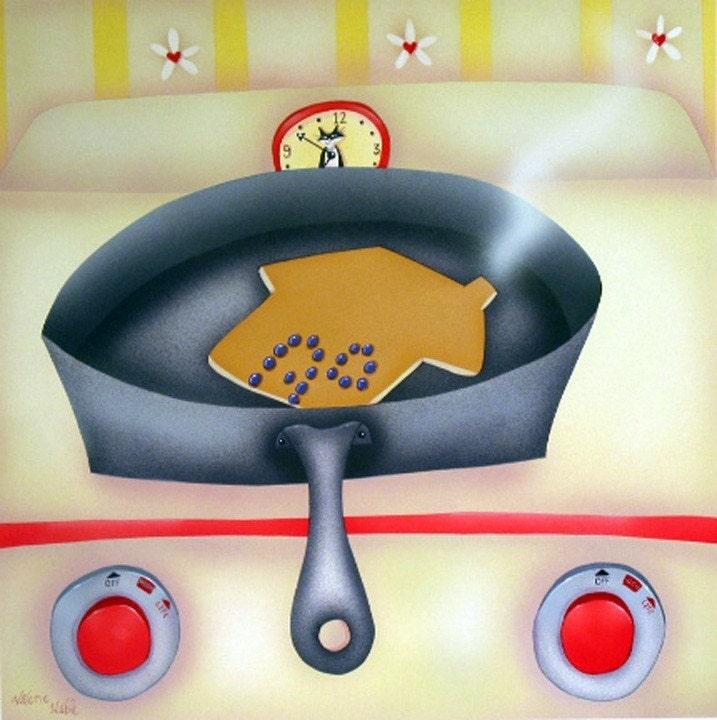 Kitchen Art The Range: HOME On The RANGE Framed Art Print