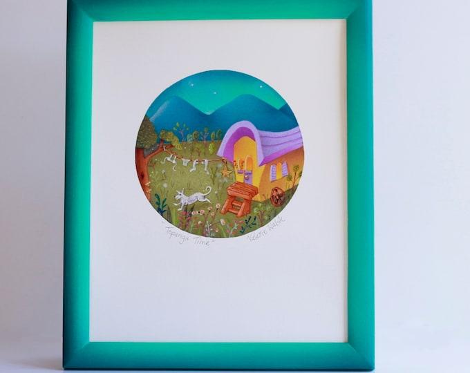 TOPANGA TIME Framed Print | Nature Print | Rustic Wall Art | Cabin Print | Gypsy Wagon Framed Art Print | Valerie Walsh Art Work | 8x10