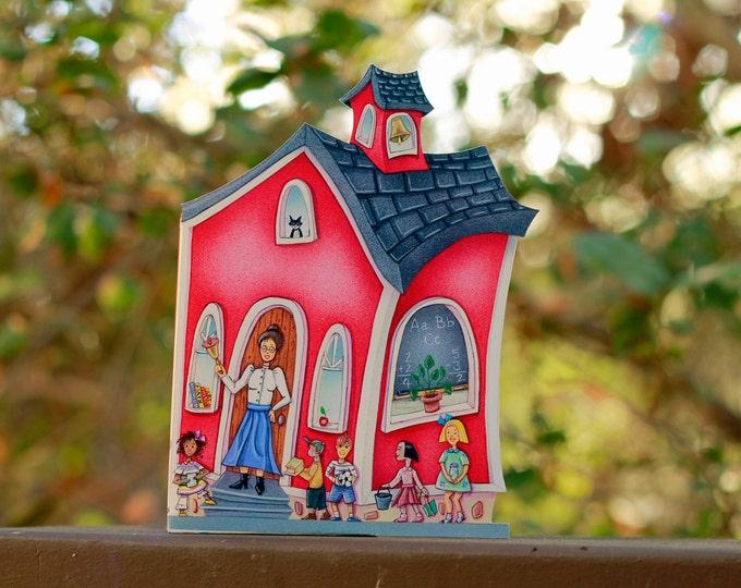 Red SCHOOL House CANDY BOX   Teacher Appreciation Gift   School House Cookie, Candy Box    Student Party Favor   Teachers Pet Gift  
