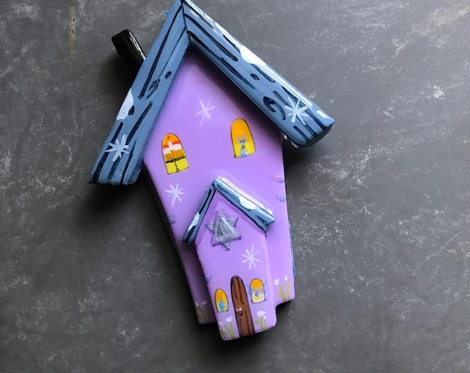 1 HANUKKAH HOUSE Ornament  |  Personalized Hanukkah Ornament | Chanukah Decoration | House-Star of David-Kitty-Menorah- Ornaments by Valgal