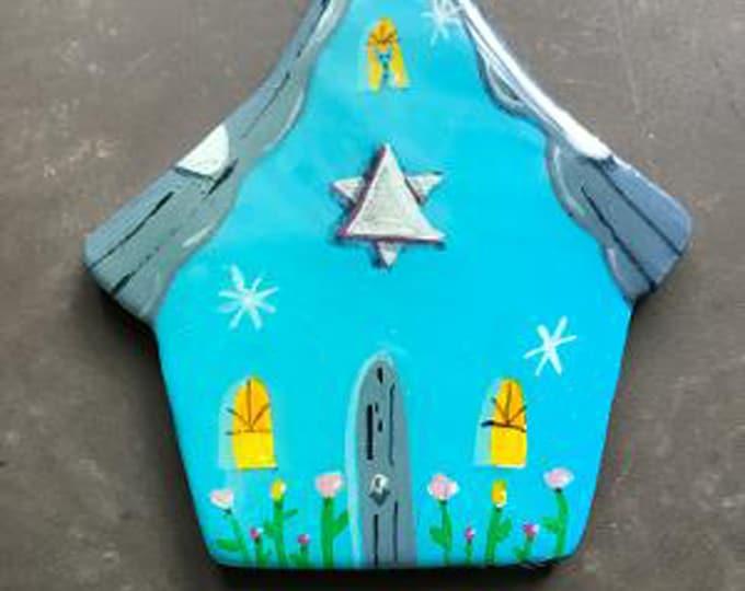 Hanukkah CHANUKAH COTTAGE ORNAMENT | Star of David Decoration | Personalized Ornament | Hanukkah Decor | Keepsake Gift | Valerie Walsh