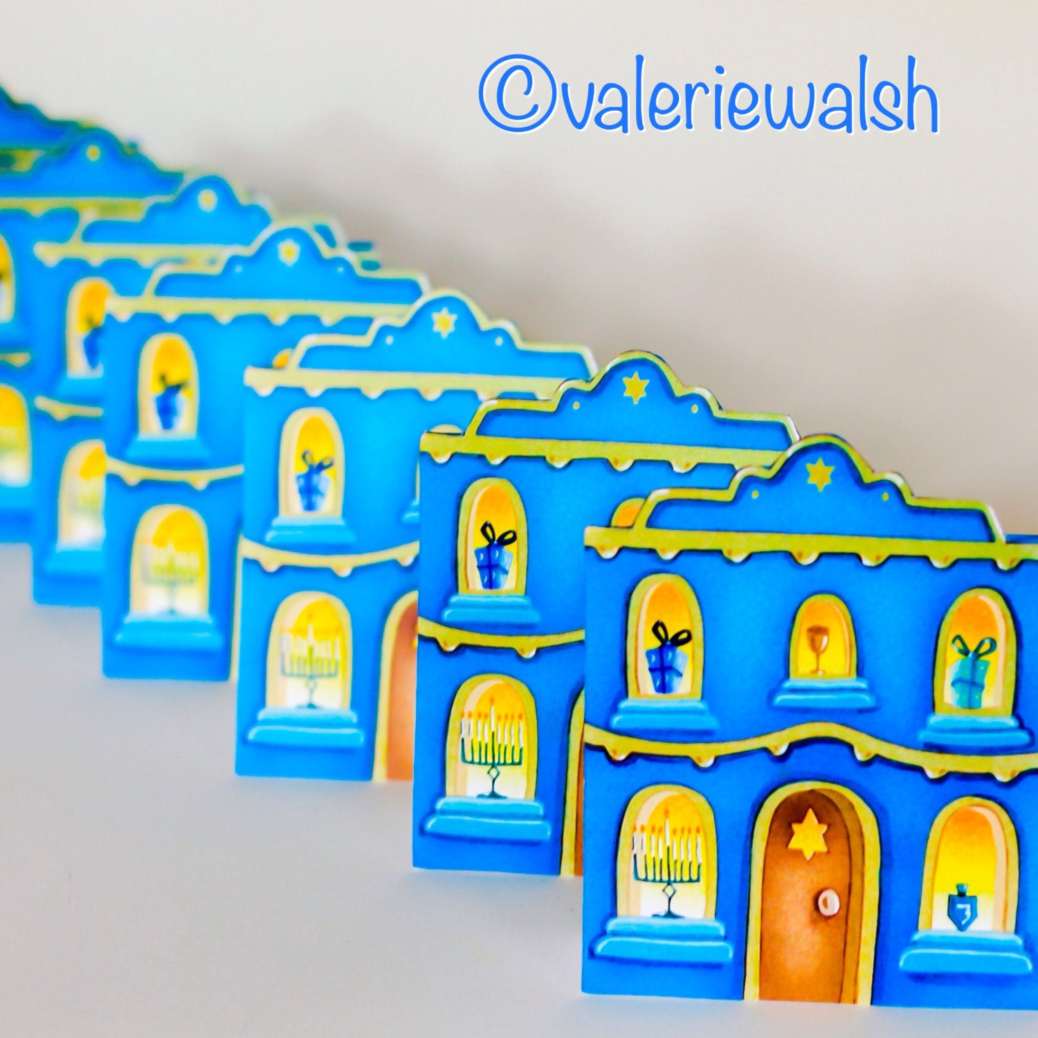 Hanukkah Card Hanukkah House Greeting Card House Shaped
