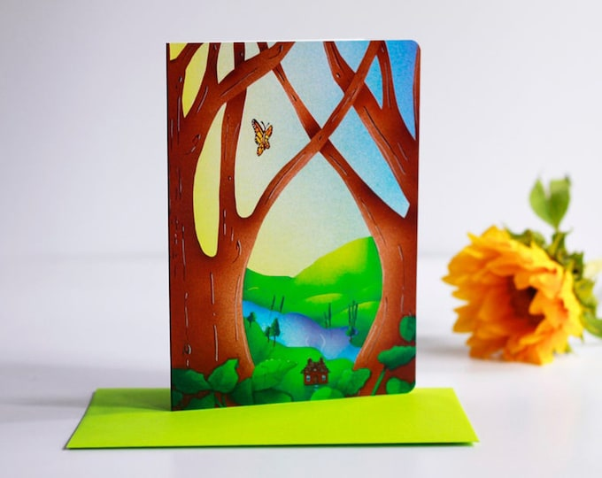 Topanga Afternoon Greeting Card with Envelope| Thinking of you Cards | Inspirational Greeting Cards | Just Because Cards | Friendship Cards