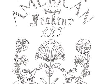 American Fraktur Paint-and-Color Book E-Sheet